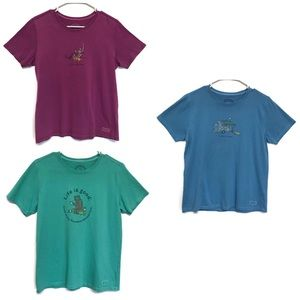 Life is Good T Shirts Lot of 3